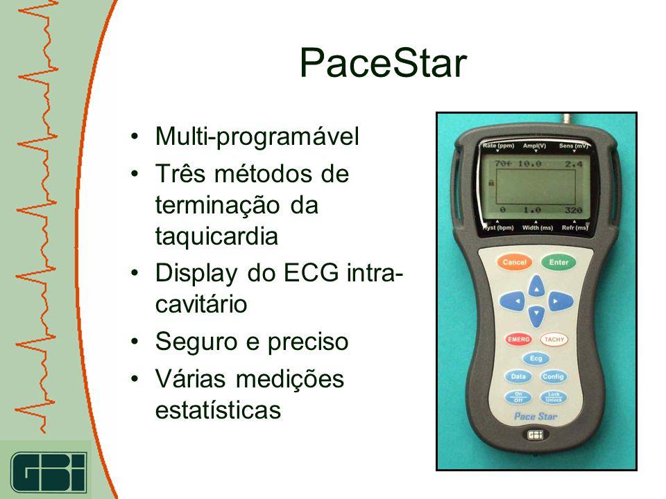PaceStar Multi-programável Três métodos de terminação da taquicardia