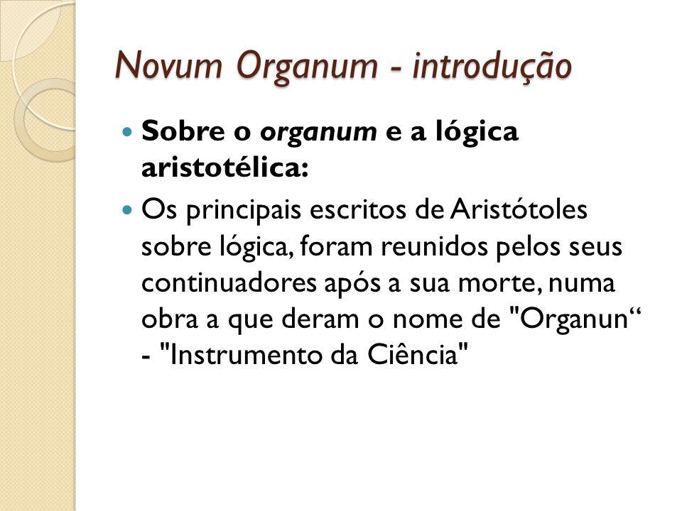 Novum Organum - introdução