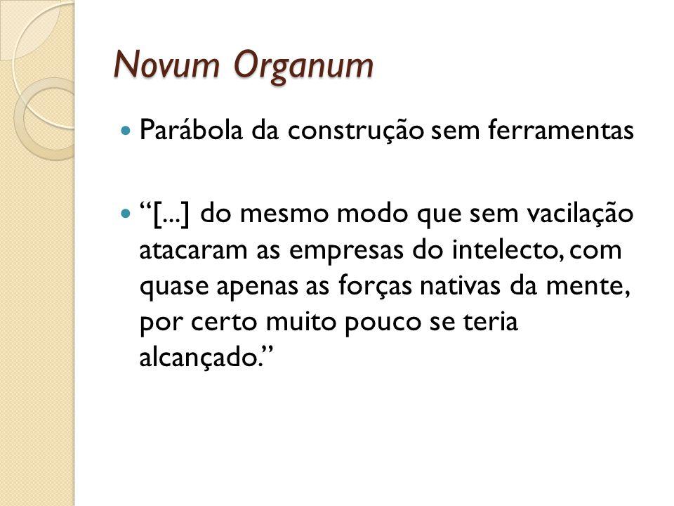 Novum Organum Parábola da construção sem ferramentas
