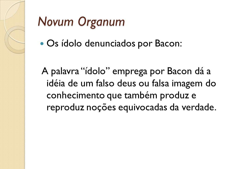 Novum Organum Os ídolo denunciados por Bacon: