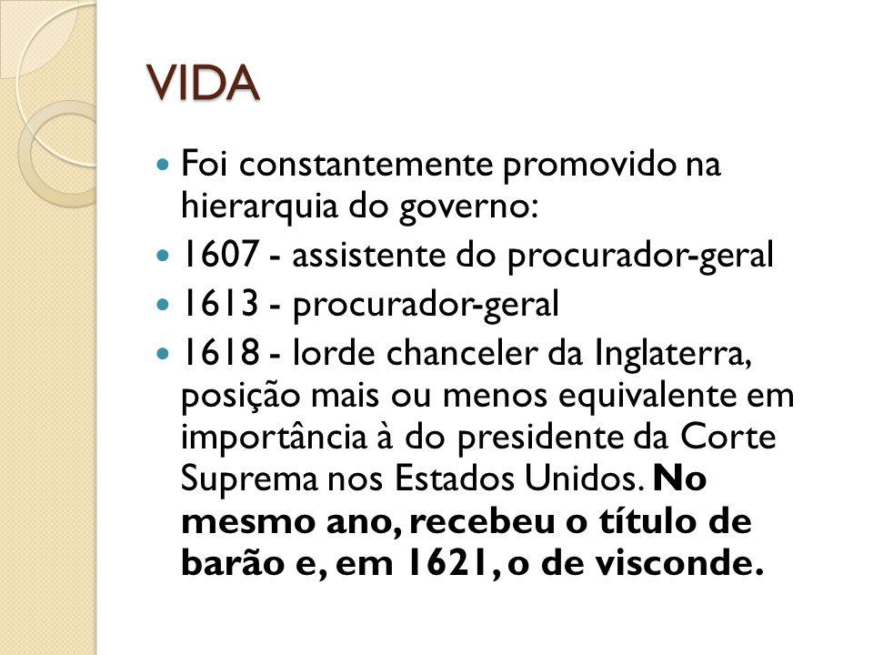 VIDA Foi constantemente promovido na hierarquia do governo: