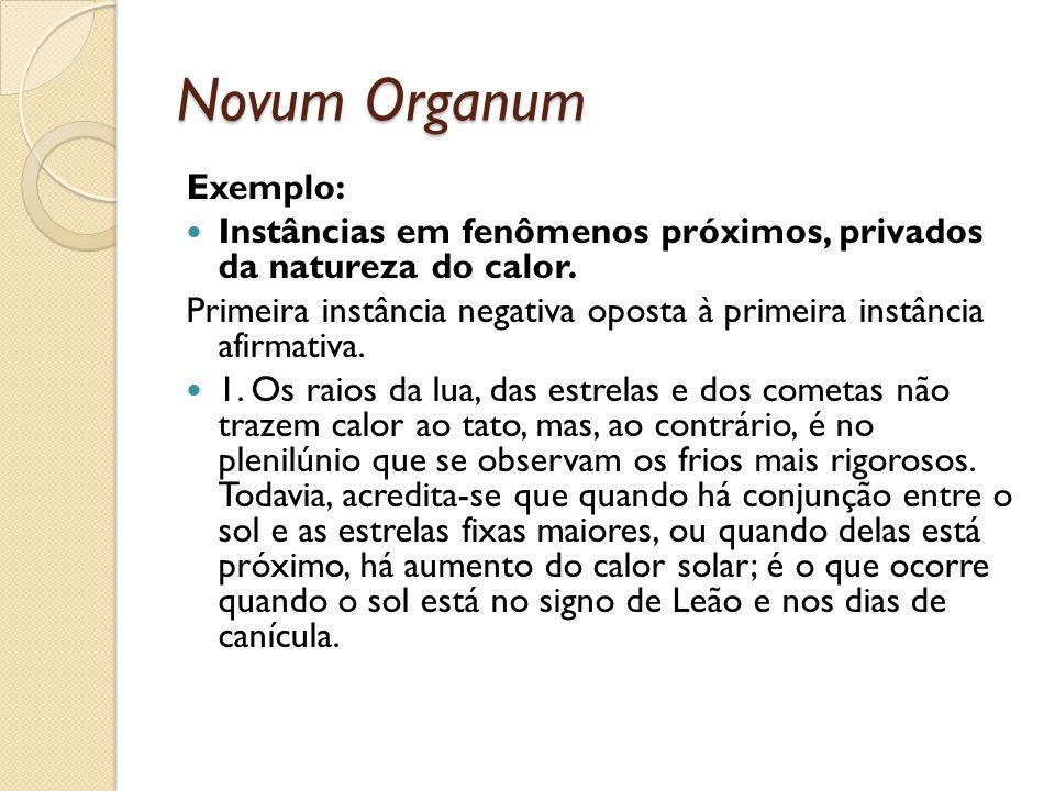 Novum Organum Exemplo: