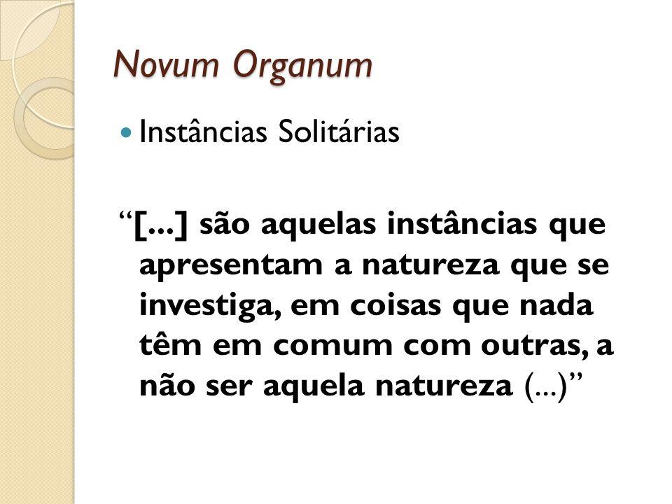 Novum Organum Instâncias Solitárias