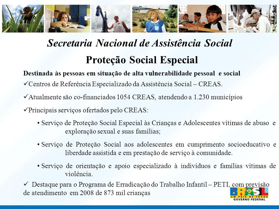 Secretaria Nacional de Assistência Social Proteção Social Especial