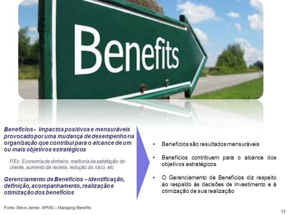 Benefícios são resultados mensuráveis