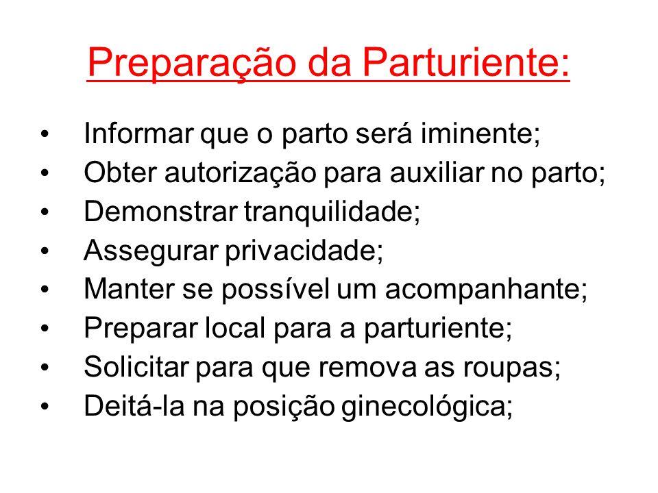Preparação da Parturiente: