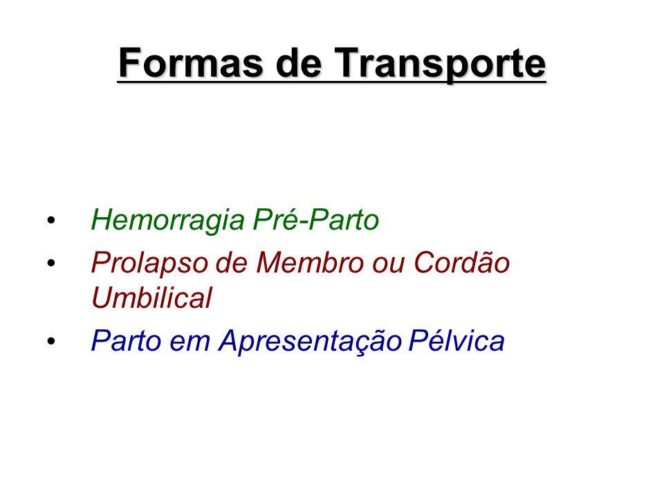 Formas de Transporte Hemorragia Pré-Parto