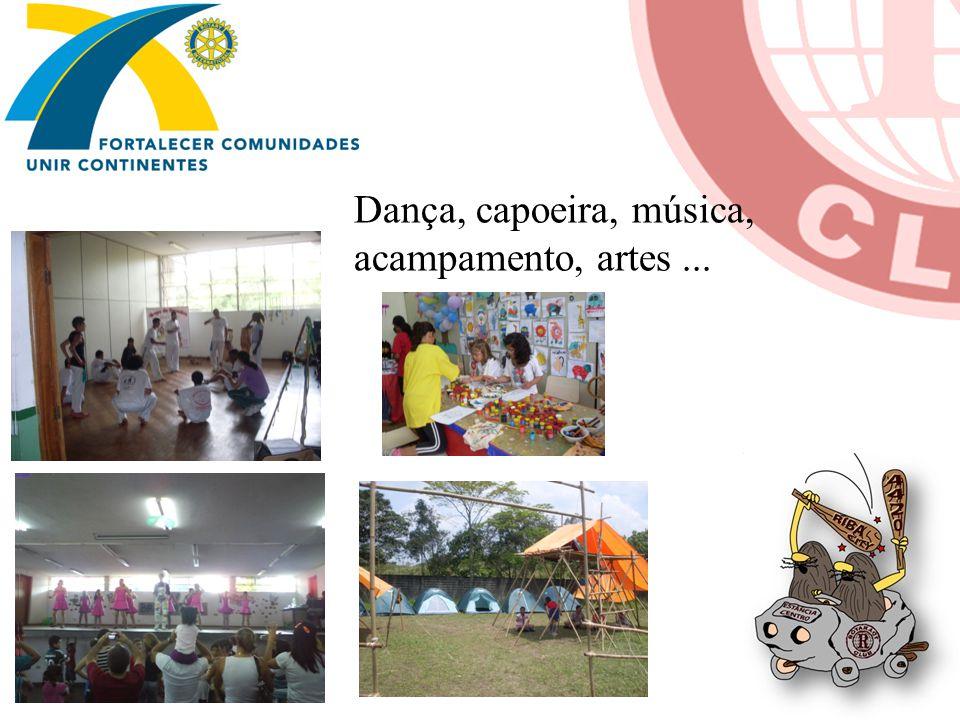 Dança, capoeira, música, acampamento, artes ...