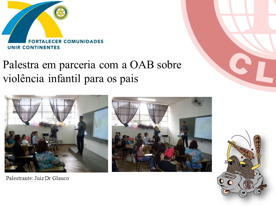 Palestra em parceria com a OAB sobre violência infantil para os pais