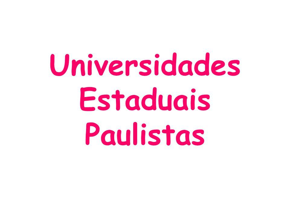 Universidades Estaduais Paulistas