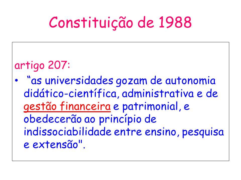 Constituição de 1988 artigo 207: