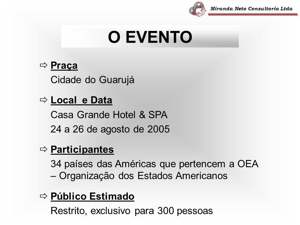 O EVENTO  Praça Cidade do Guarujá  Local e Data