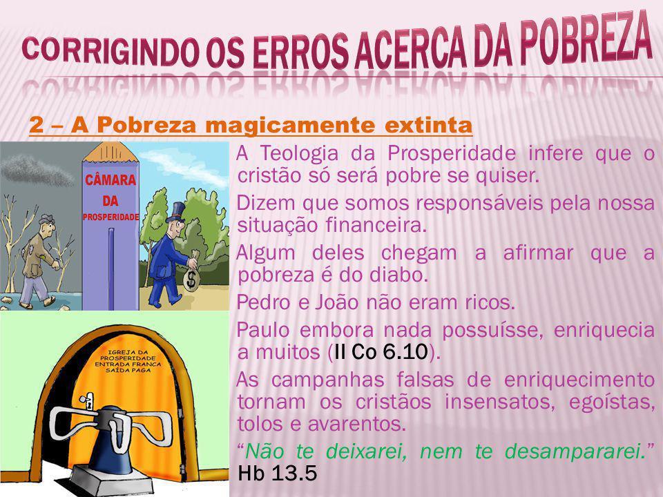 Corrigindo os erros acerca da pobreza