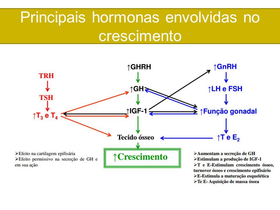 Principais hormonas envolvidas no crescimento