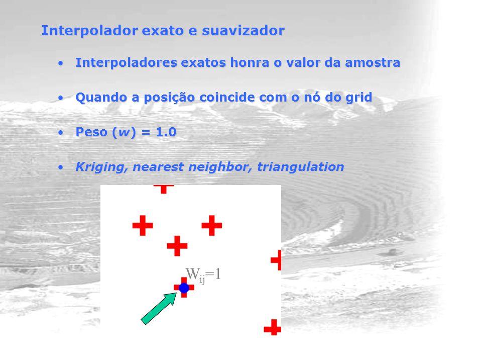 Interpolador exato e suavizador