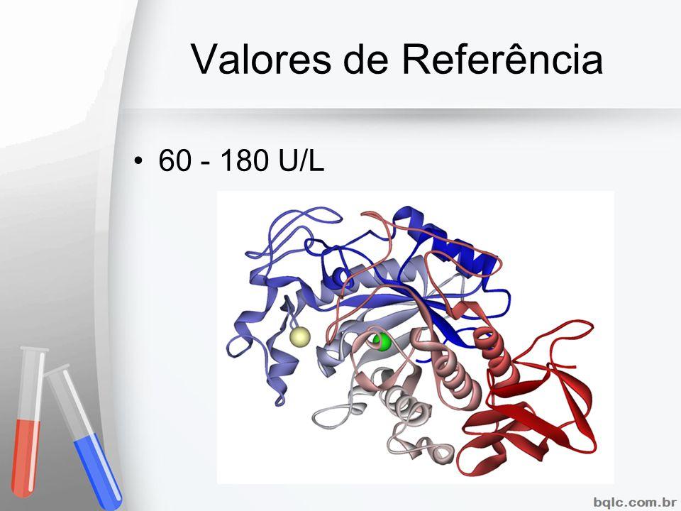 Valores de Referência 60 - 180 U/L
