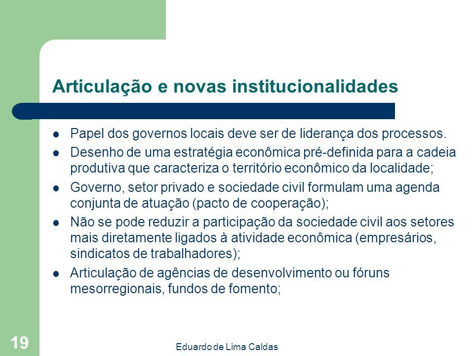 Articulação e novas institucionalidades
