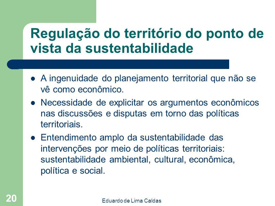 Regulação do território do ponto de vista da sustentabilidade