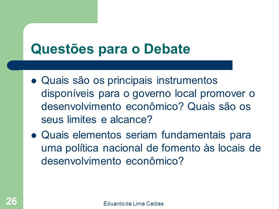 Questões para o Debate