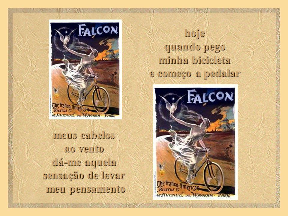 minha bicicleta e começo a pedalar sensação de levar meu pensamento