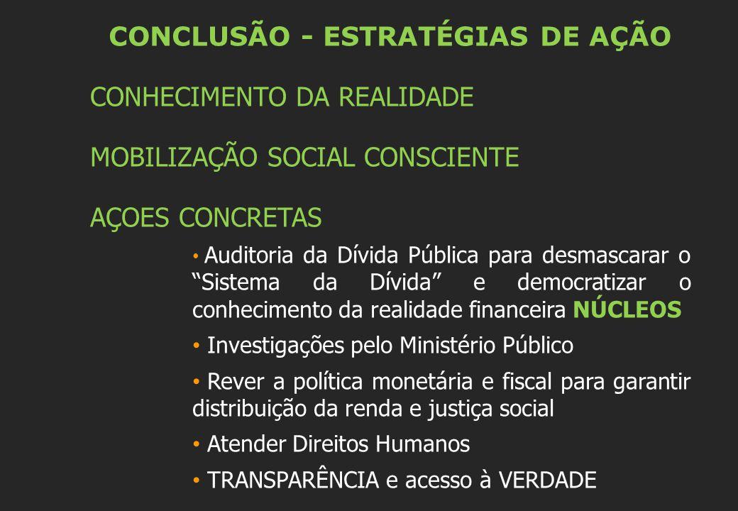 CONCLUSÃO - ESTRATÉGIAS DE AÇÃO