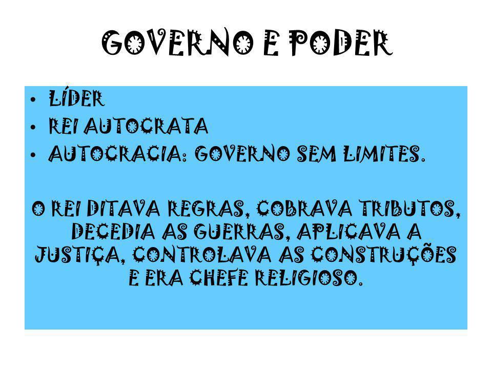 GOVERNO E PODER LÍDER REI AUTOCRATA AUTOCRACIA: GOVERNO SEM LIMITES.
