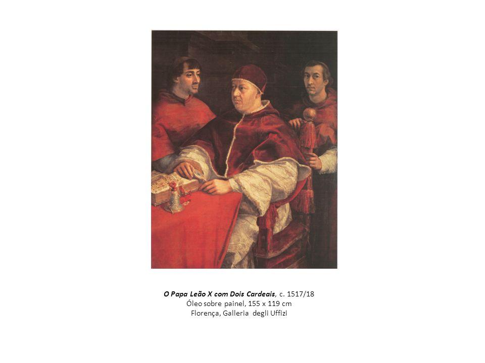 O Papa Leão X com Dois Cardeais, c
