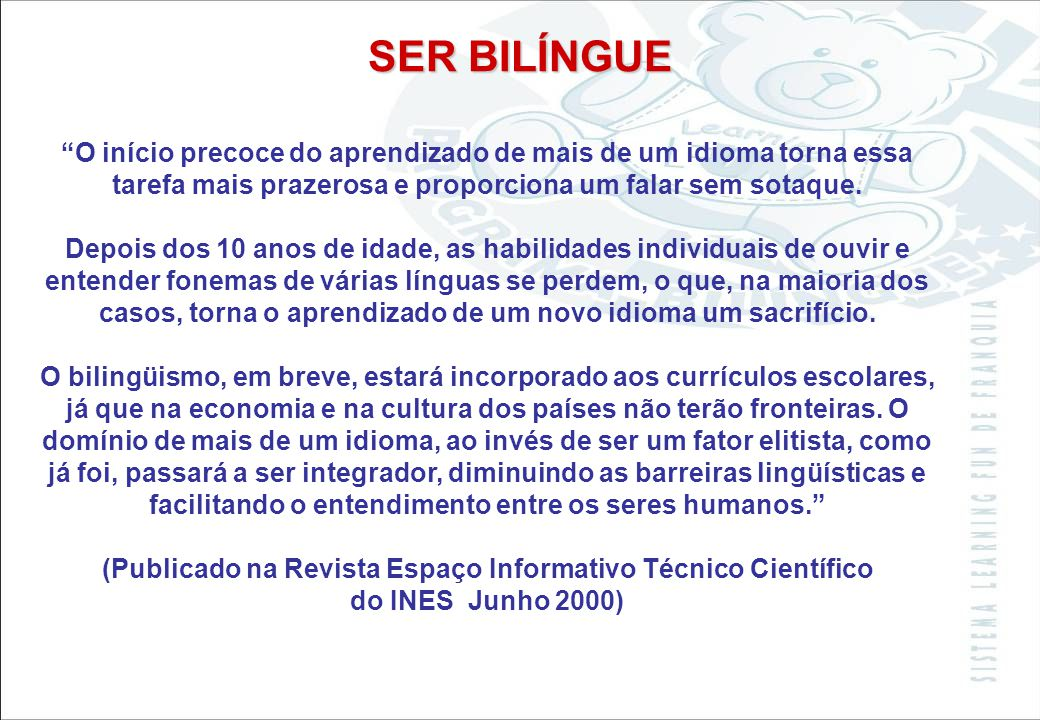 (Publicado na Revista Espaço Informativo Técnico Científico