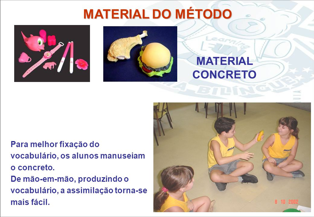 MATERIAL DO MÉTODO MATERIAL CONCRETO