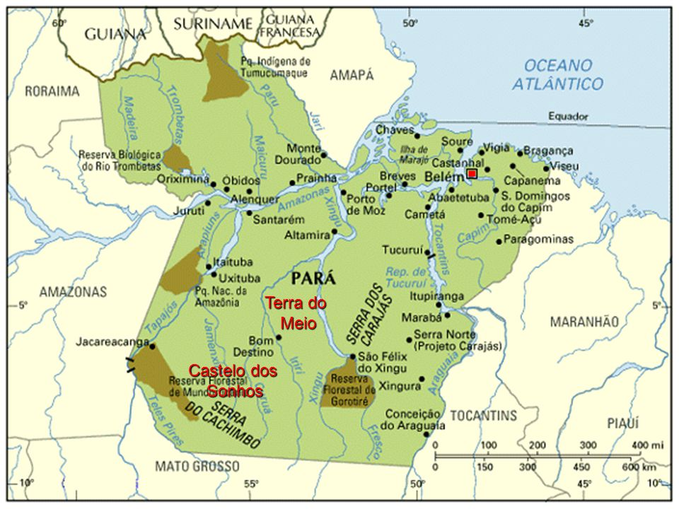 Mapa do Pará Terra do Meio Castelo dos Sonhos