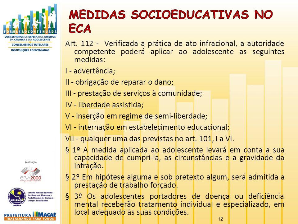 MEDIDAS socioeducativas NO ECA
