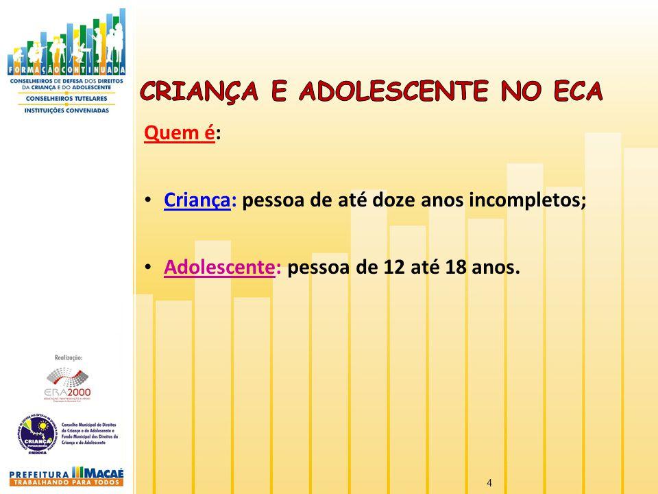 Criança e Adolescente no ECA