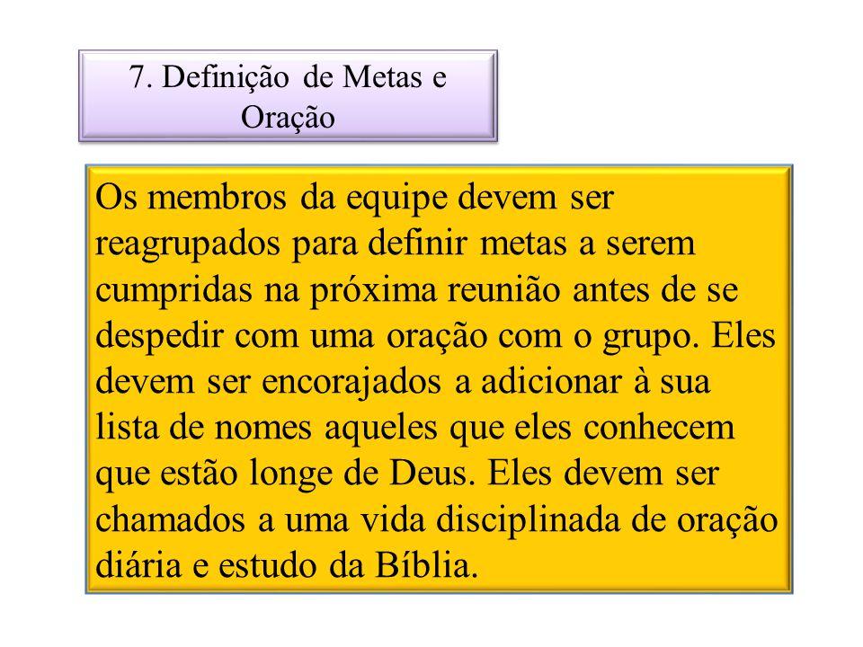 7. Definição de Metas e Oração