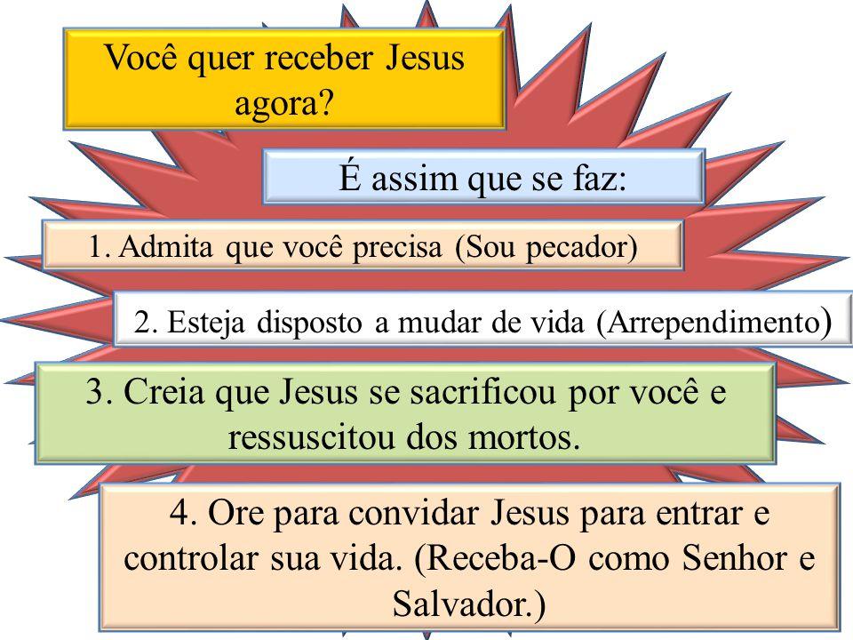 Você quer receber Jesus agora