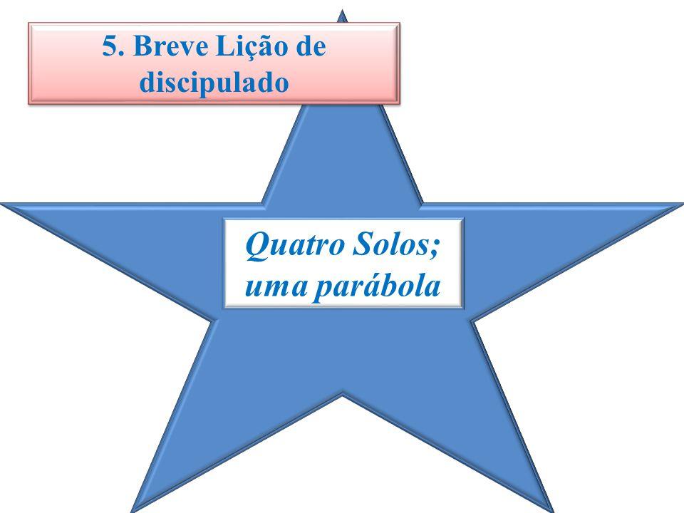 5. Breve Lição de discipulado Quatro Solos; uma parábola