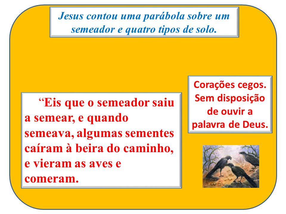 Jesus contou uma parábola sobre um semeador e quatro tipos de solo.