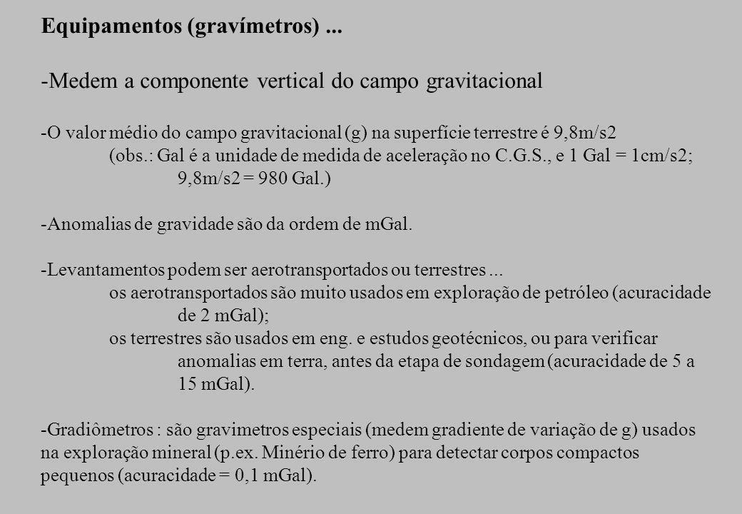O termo ggeo é denominado Anomalia completa Bouguer de gravidade e representa a diferença entre gobs e gteorico, onde gteorico é a gravidade esperada no ponto de observação.