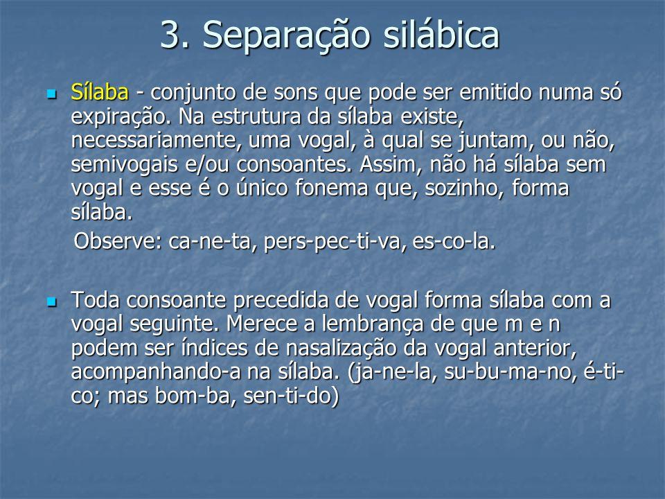 3. Separação silábica