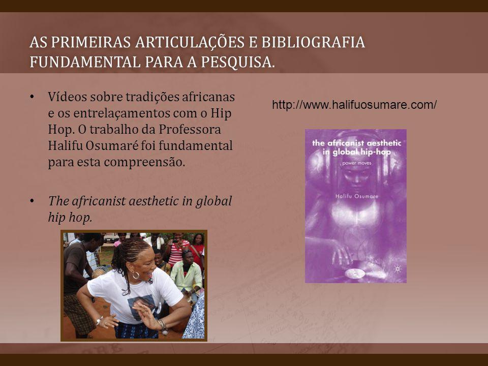 As primeiras articulações e bibliografia fundamental para a pesquisa.