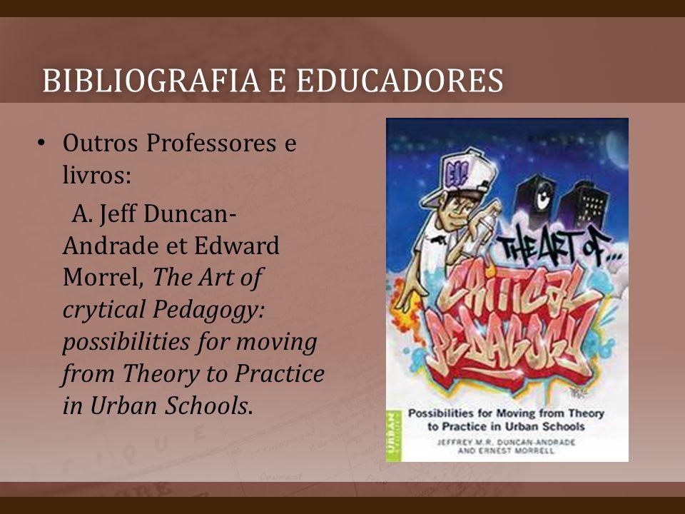 Bibliografia e educadores