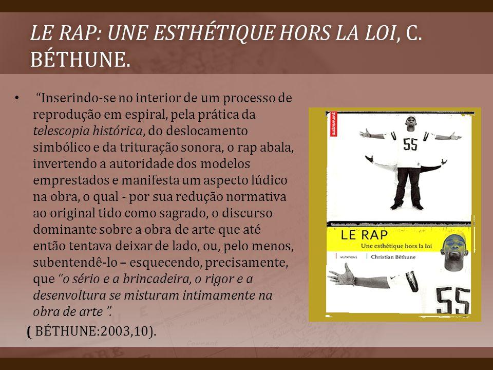 Le rap: une esthétique hors la loi, C. Béthune.
