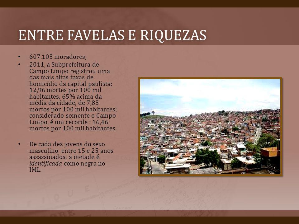 Entre favelas e riquezas