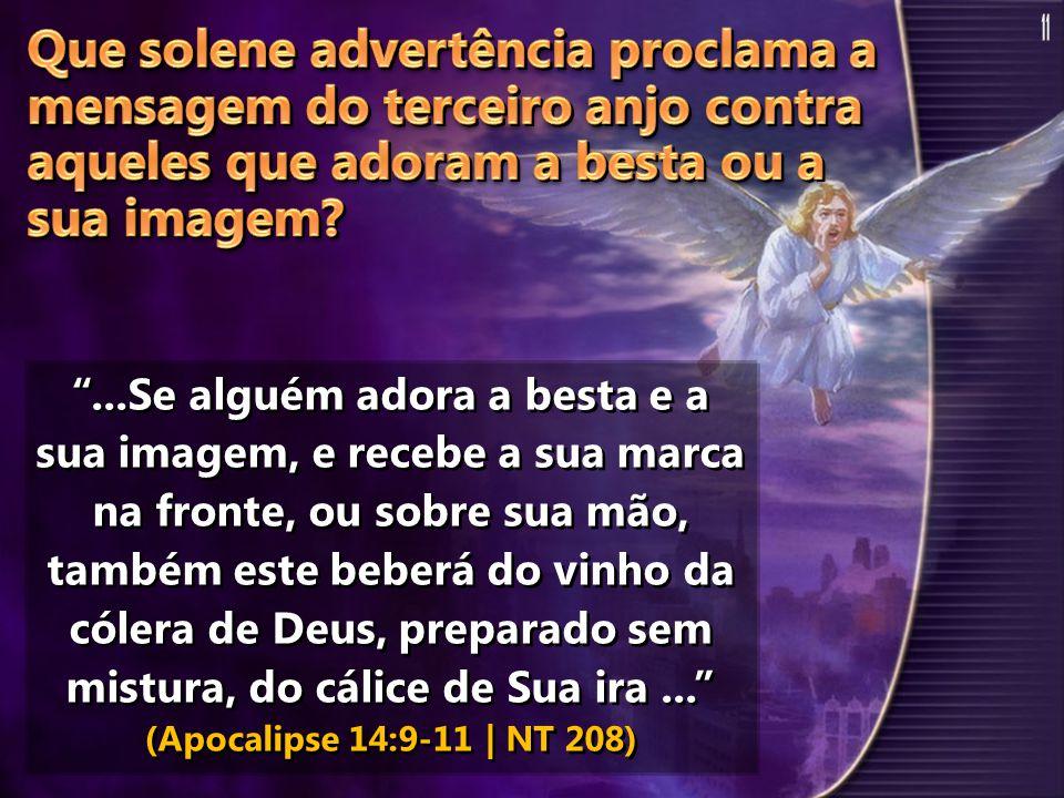 11 Que solene advertência proclama a mensagem do terceiro anjo contra aqueles que adoram a besta ou a sua imagem