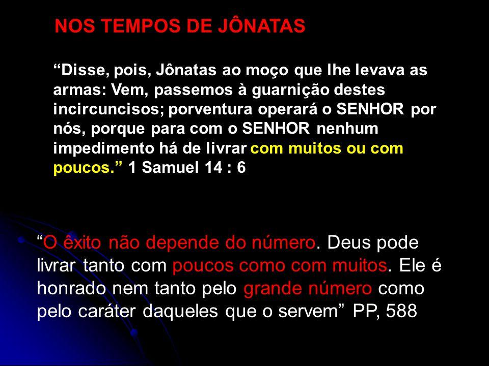 NOS TEMPOS DE JÔNATAS