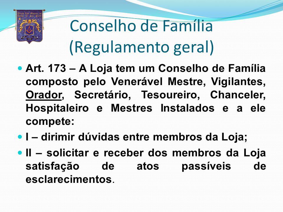 Conselho de Família (Regulamento geral)