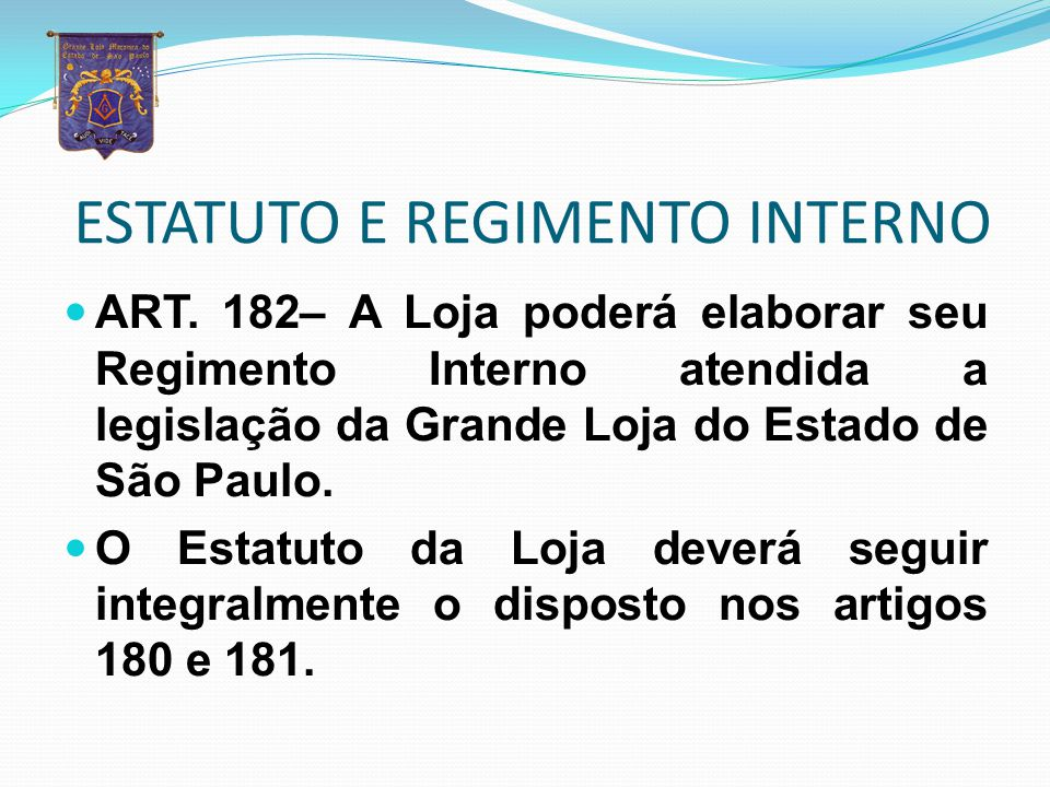 ESTATUTO E REGIMENTO INTERNO