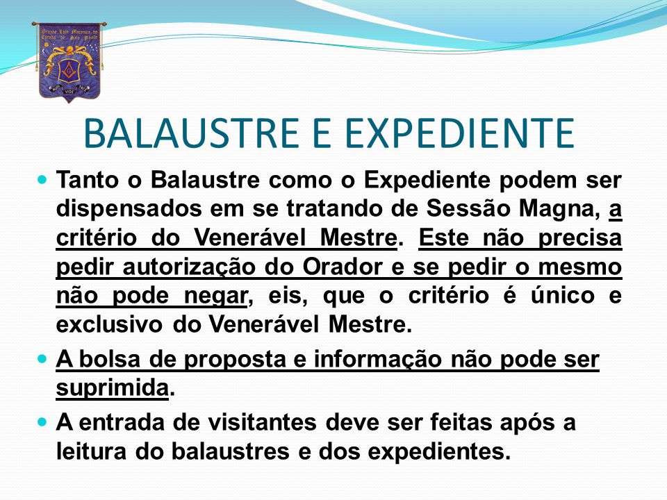 BALAUSTRE E EXPEDIENTE
