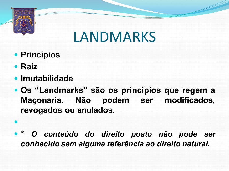 LANDMARKS Princípios Raiz Imutabilidade