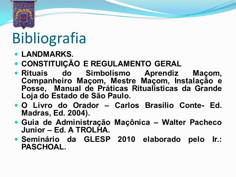 Bibliografia LANDMARKS. CONSTITUIÇÃO E REGULAMENTO GERAL