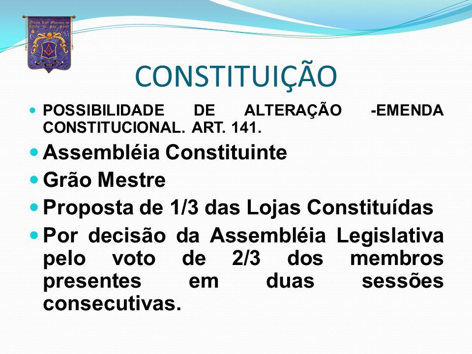 CONSTITUIÇÃO Assembléia Constituinte Grão Mestre